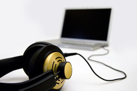 music production: Digital music, Laptop recording, portable studio, music production and listening.