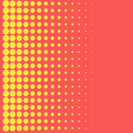 perforated: Halftone background pop art style yellow dots color design element for web banners, posters, cards, Wallpaper, backdrops, labels, sites, stickers. Vector illustration