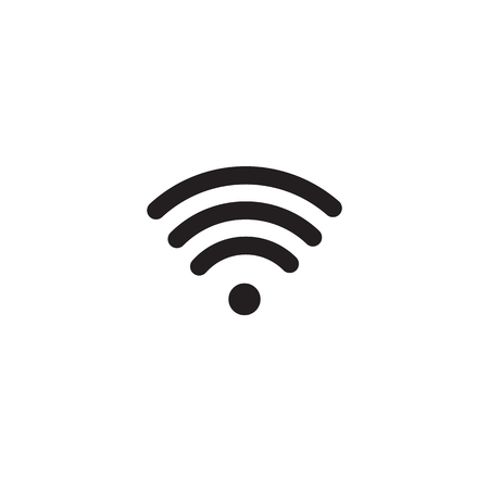 Wireless internet access signal icon isolated on white background.