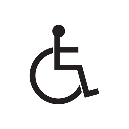 Disabled Sign Icon Vector Illustrationman On Wheelchair
