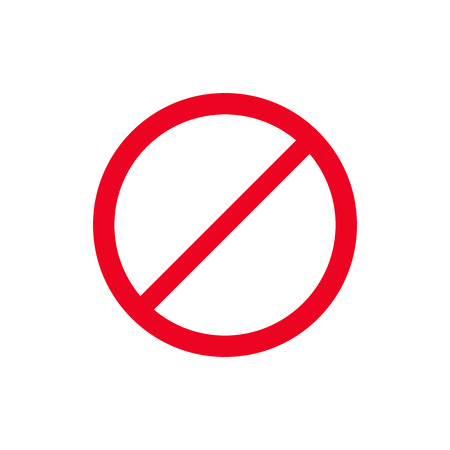 Rode stopbord pictogram isoleren op witte achtergrond vectorillustratie. Doe het niet Vector Illustratie