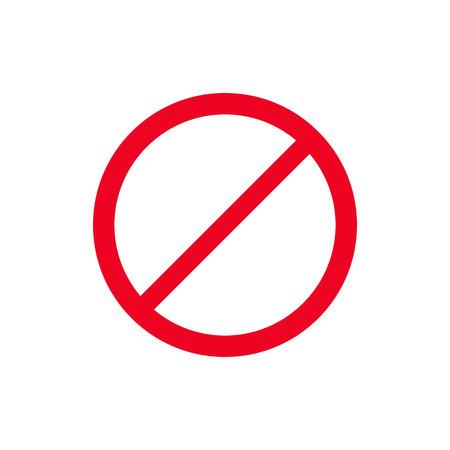 Rotes Stoppschildsymbol isolieren auf weißer Hintergrundvektorillustration. Tun Sie es nicht Vektorgrafik