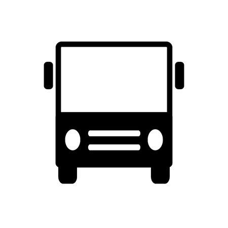 Bus sign flat vector icon. Public transport symbol.
