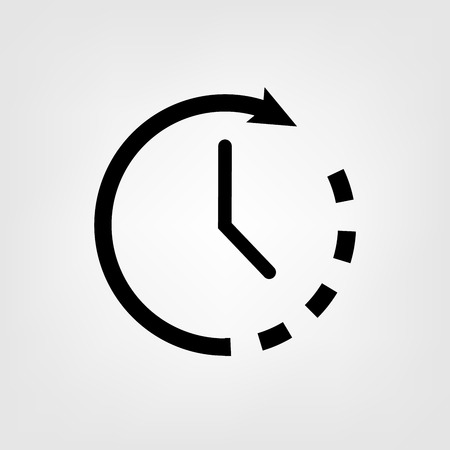 Flat clock vector icon for graphic design, logo, web site, social media, mobile app, illustration Çizim