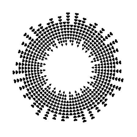 Abstrait égaliseur musique onde sonore cercle vecteur icône symbole. création de logo, icône de ligne ronde en forme de coeur, élément de cercle, fond d'éléments, illustration