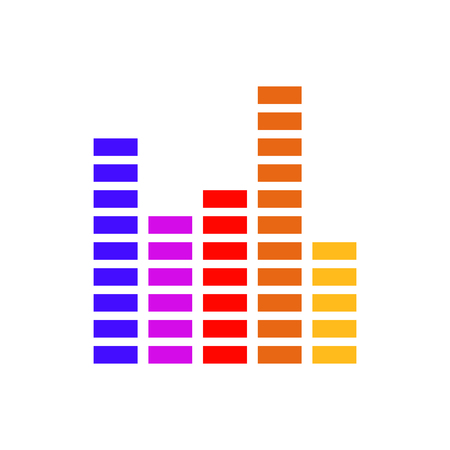 Frequency equalizer vector illustration sound volume wave audio voice bar for  your web site design, logo, app, UI.