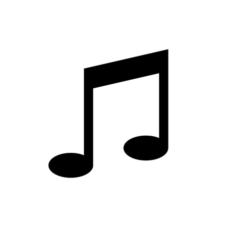 musical note melody icon vector illustration. For your web site design, logo, app, UI