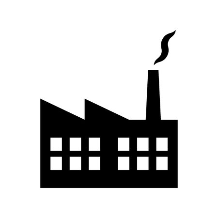 Industrial building factory and power plants icon vector illustration  for graphic design, Web site, social media, UI, mobile upp