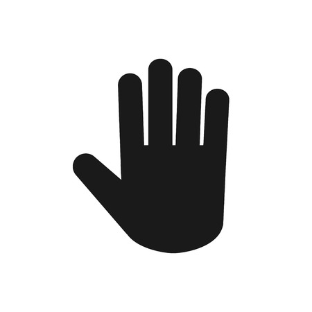 Stop hand palm vector icon for your web site design, logo, app, UI. illustration  イラスト・ベクター素材