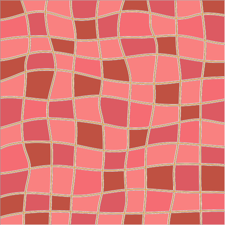Abstract pink and brown color mosaic vector background