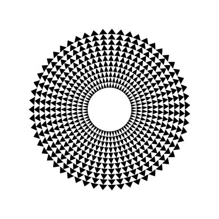 Triangle abstrait égaliseur musique onde sonore cercle symbole d'icône vecteur. création de logo, icône de ligne ronde, élément de cercle, fond d'éléments, illustration Logo