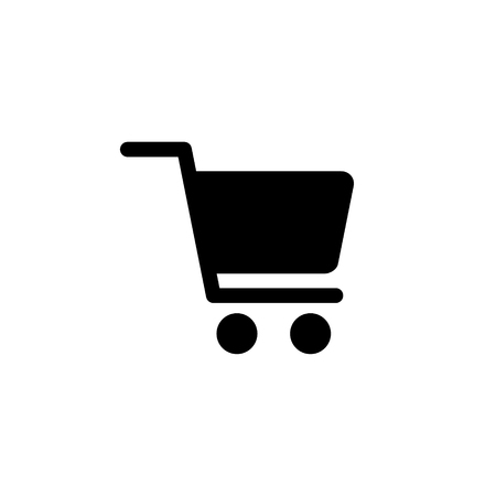 Shopping cart vector icon finance concept for graphic design, logo, web site, social media, mobile app, ui illustration