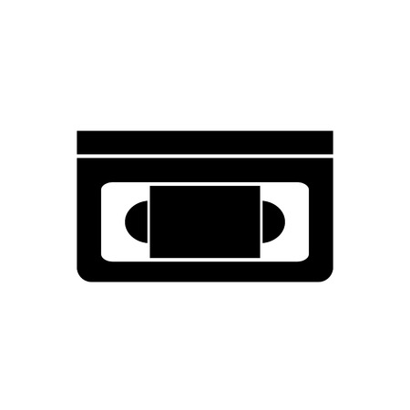 Video cassette tape vector icon for graphic design, logo, web site, social media, mobile app, ui illustration