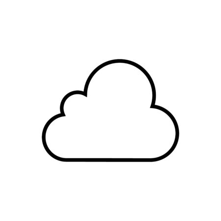 Cloud vector icon for graphic design, logo, web site, social media, mobile app, ui illustration