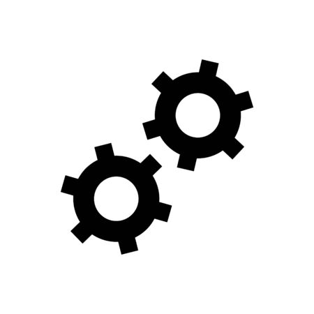 Cogwheels vector icon for graphic design, logo, web site, social media, mobile app, ui illustratio Ilustrace