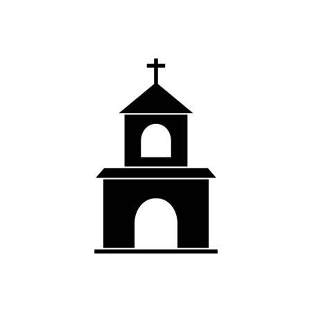 Christian Church vector icon religion concept for graphic design, logo, web site, social media, mobile app, ui illustration