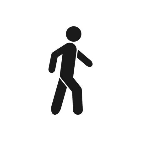 Walk vector icon sport symbol for graphic design, logo, web site, social media, mobile app, ui illustration