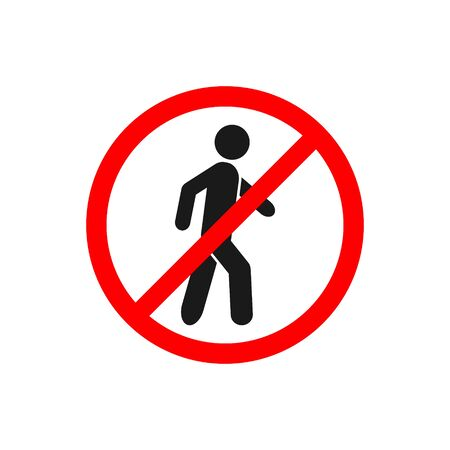 No walking traffic sign, prohibition no pedestrian sign vector for graphic design, logo, web site, social media, mobile app, ui