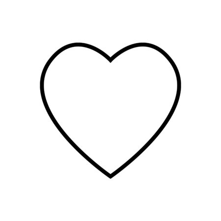 Heart flat style Icon Vector , Love Symbol Valentines Day isolated on white background for graphic design, logo, web site, social media, mobile app, ui illustration