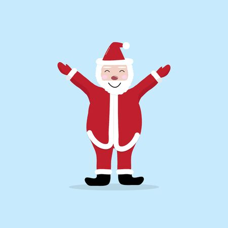Santa Claus cute cartoon character vector. For Christmas cards, banners, tags and labels. Ilustrace