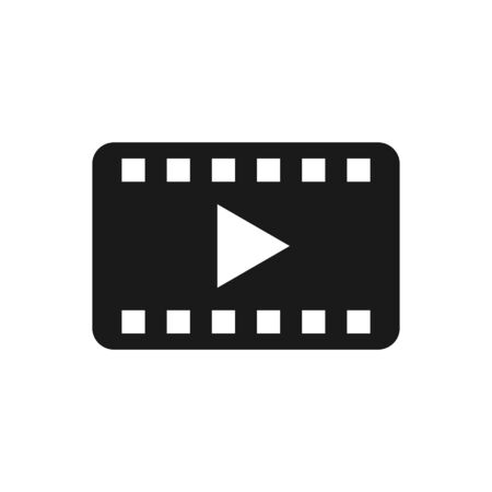 Play video film strip vector icon. For your web site design, logo, app, UI. Vector illustration Ilustrace