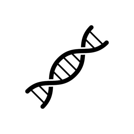 DNA icon vector isolate on white background for your web design, logo, UI. illustration
