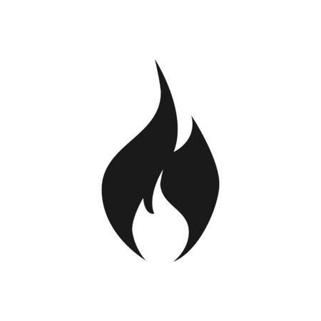 Fire flame icon vector isolate on white background for your web design, logo, UI. illustration Ilustrace
