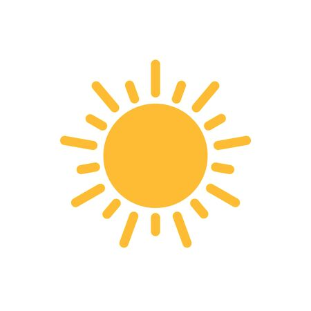 Sun icon vector for your web design, logo, UI. illustration