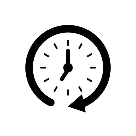 Flat clock vector icon for graphic design, logo, web site, social media, mobile app, illustration Ilustrace