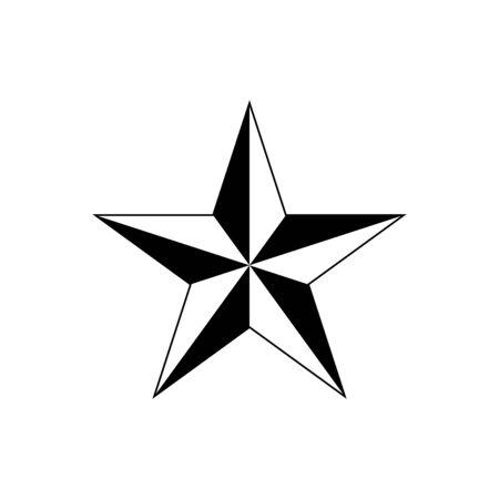 Star vector icon for graphic design, logo, web site, social media, mobile app, ui illustration Ilustrace