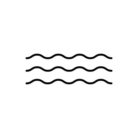 Wave vector icon water ripple symbol for graphic design