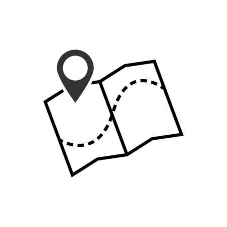 Map pointer icon vector illustration. GPS location symbol with with pin pointer for graphic design, web site, social media, mobile app, ui Ilustrace