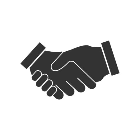 Handshake vector flat icon contract agreement business, finance concept for your web site design, app, UI. illustration Иллюстрация