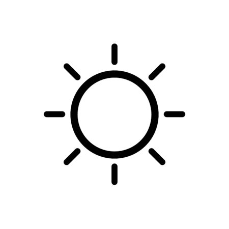 Sun line vector icon for graphic design, web site, social media, mobile app, ui