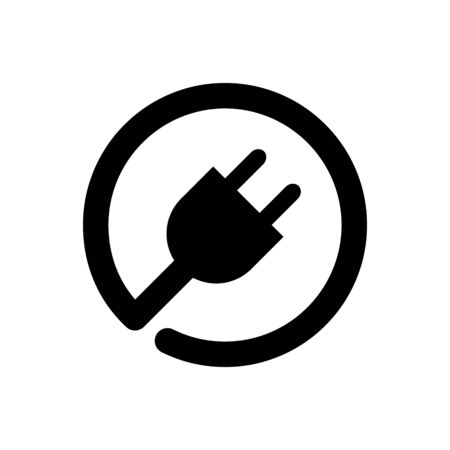 Plug in vector icon for graphic design, web site, social media, mobile app, ui Çizim