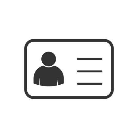 Employee clerk card, vector icon illustration for graphic design