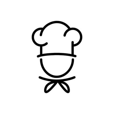 Chef in a cooking hat vector outline icon food concept for graphic design Reklamní fotografie - 129147535