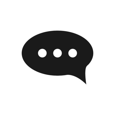 Chat, speech, bubble, dialogue vector icon for graphic design