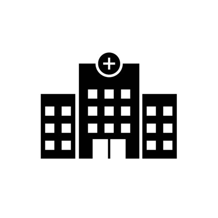 Medical hospital building with cross vector icon for health care concept. Reklamní fotografie - 129147593