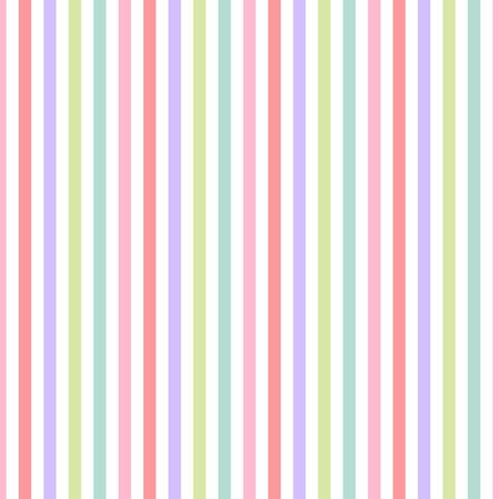 Seamless pattern pink, green, purple and blue pastel colors. Vertical pattern stripe abstract background illustration Ilustrace