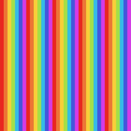 Seamless pattern rainbow red, green, purple, blue, yellow, orange  colors. Vertical pattern stripe abstract background illustration