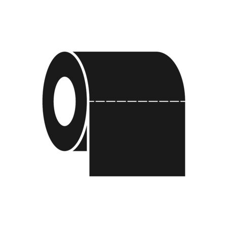 Tissue  icon toilet symbol for graphic design, web site, social media, mobile app, ui Illustration