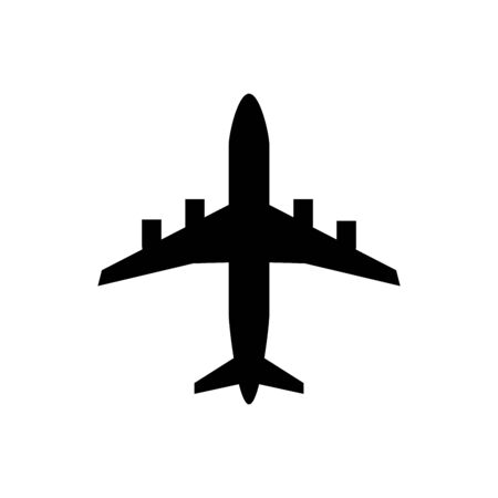 Airplane flat icon transportation concept for graphic design, web site, social media, mobile app, ui illustration