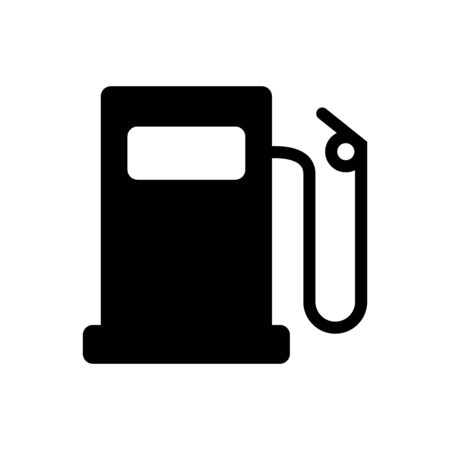 Gas station icon for graphic design, web site, social media, mobile app, ui Ilustrace