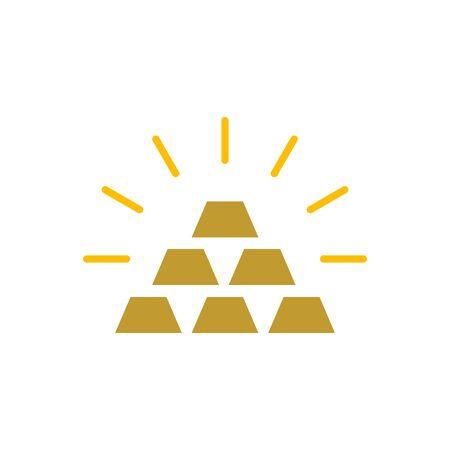 Gold bar icon for graphic design, web site, social media, mobile app, ui illustration Illusztráció