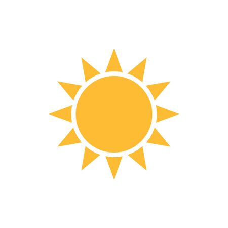 Sun icon  for your web design, UI. illustration