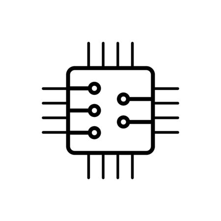 Circuit board, technology icon. For your web site design, app, UI. Ilustrace