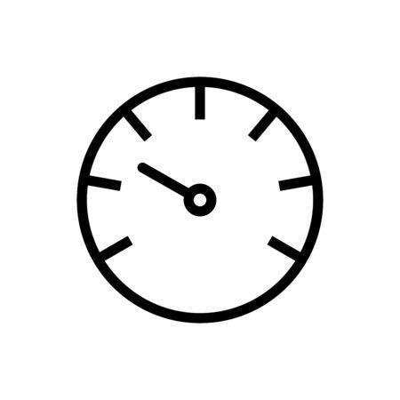 Gauge vector icon speedometer measurement sign for graphic design, web site, social media, mobile app, ui illustration