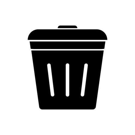 Trash can icon vector, bin sign, delete symbol isolated on white background for graphic design, logo, web site, social media, mobile app, ui illustration