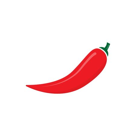 Red hot chili pepper vector isolate on white background for graphic design, web site, social media, mobile app, ui illustration